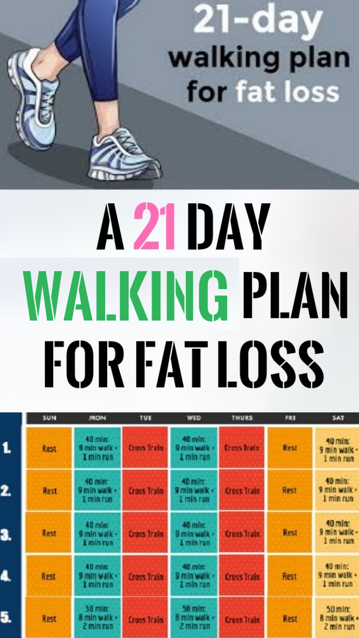 a 21 day walking plan for fat loss